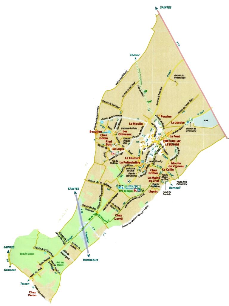 Carte de la commune